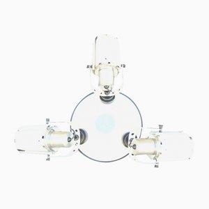 Lámpara de araña con apliques era espacial. Juego de 3