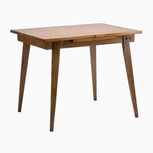 Tavolo pieghevole impiallacciato in quercia, anni '60