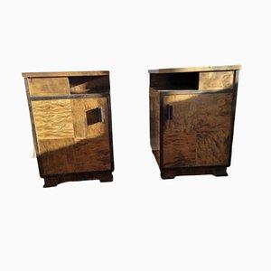 Swedish Art Deco Bedside Tables, Set of 2