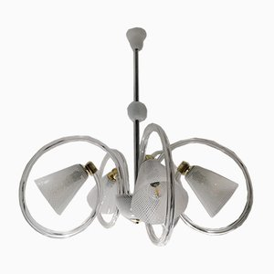 Glass Ceiling Lamp by Ercole Barovier, 1940s