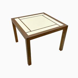 Mesa de centro cuadrada de latón, años 70