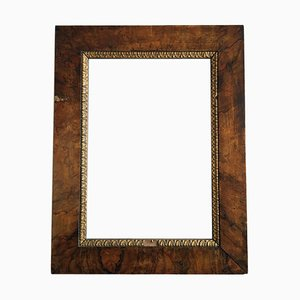 Lombardian Plaster and Golden Walnut Frame, 1800s