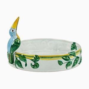 Runde Moustiers Keramik Toucan Schale von Hermès
