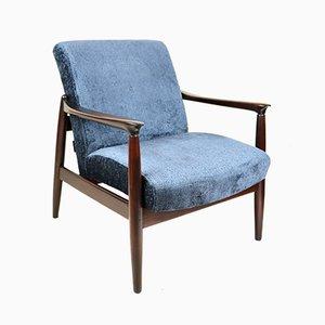 Marineblauer Sessel von Edmund Homa, 1970er