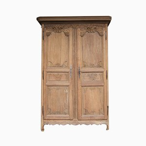 French Oak Wardrobe, 19th Century