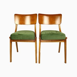 Green Dining Chairs, 1970s, Set of 2