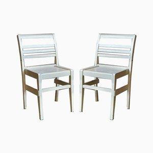 Chaises Reconstruction par René Gabriel, France, Set de 2