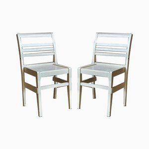 French Reconstruction Chairs by René Gabriel, Set of 2