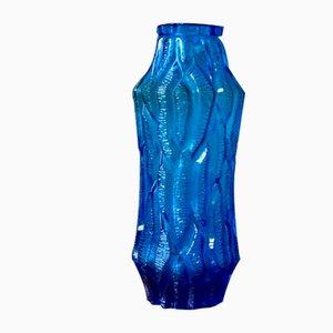 Vase en Verre Bleu, Autriche, 1960s