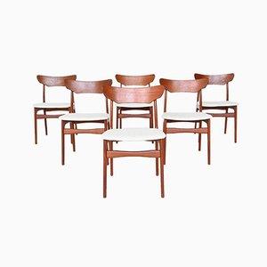 Teak Dining Chairs by Schiønning & Elgaard for Randers Møbelfabrik, Denmark, 1960s, Set of 6