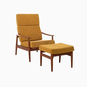 Danish High Back Lounge Chair by Arne Vodder for Cado, 1960s