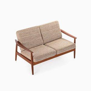 Loveseat Sofa von Arne Vodder für France & Son, Denmark 1960er