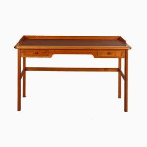 Kirschholz Schreibtisch von Andreas Hansen für Hadsten Traeindustri, 1960er