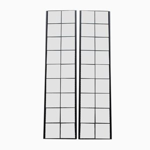 Minimalist Mirrors with Black Stripes by Lucio Del Pezzo for Rimadesio, 1980s, Set of 2