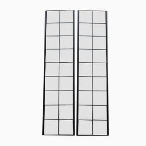Minimalistische Spiegel mit schwarzen Streifen von Lucio Del Pezzo für Rimadesio, 1980er, 2er Set