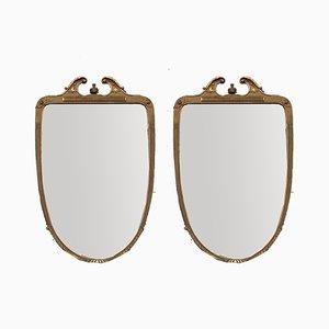 Große Spiegel von Giovanni Garibaldi, Cantù, Italien, 1950er, 2er Set