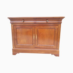 Louis Philippe 2-Door Buffet with 2 Drawers in Cherry