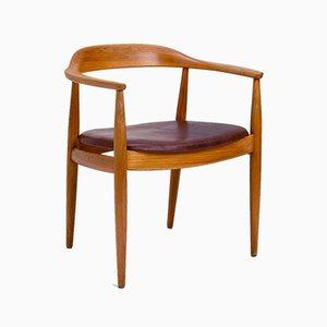 Chaise de Bureau par Arne Wahl Iversen pour Niels E. Eilersen, Danemark, 1950s