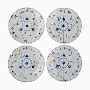 Assiettes à Salade Bleues de Bing & Grøndahl, milieu du 20ème Siècle, Set de 4