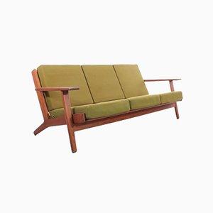Skandinavisches Mid-Century Modern 3-Sitzer GE 290 Sofa aus Teak von Hans Wegner für Getama