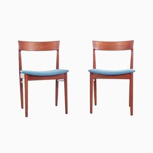 Skandinavische Mid-Century Stühle aus Teak von Harry Rosengren Hansen für Brande Møbelindustri