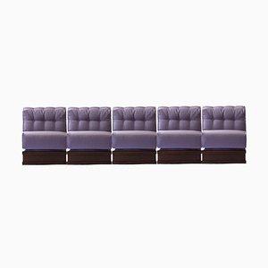 Italienisches Fünfsitzer Gooseneck Sofa, 1970er