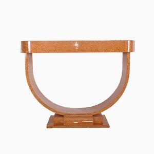 Art Deco Style Amboina Console Table