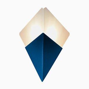 Dreieckige Eisglas Wandleuchten von Kalmar, Österreich, 1960er, 2er Set