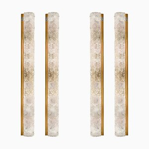 Large Blown Murano Glass and Brass Wall Light from Hillebrand