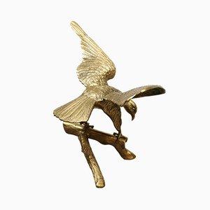 Mid-Century Brass Eagle Sculpture