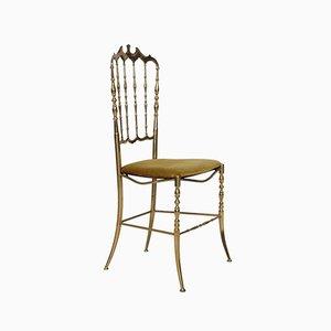 Italienischer Stuhl in Goldgelb von Giuseppe Gaetano Descalzi für Chiavari