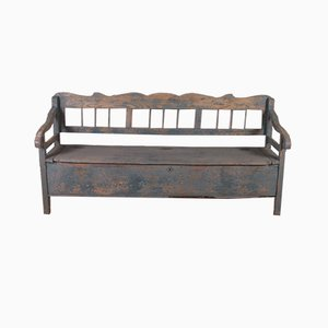 Rustic Painted Settle