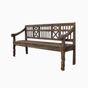 Painted Austrian Hall Bench
