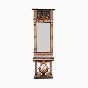 Mesa consola sueca pintada con espejo