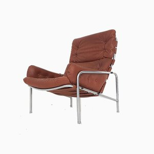 Brown Leather SZ09 Nagoya Lounge Chair by Martin Visser for 't Spectrum, Netherlands, 1969
