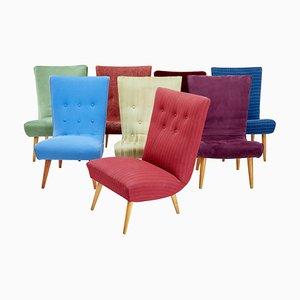 Scandinavian Modern Harlequin Lounge Chairs, Set of 8