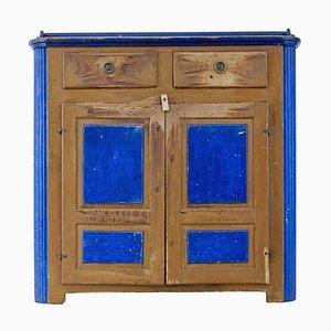 19th Century Swedish Painted Pine Ragwork Kitchen Cupboard