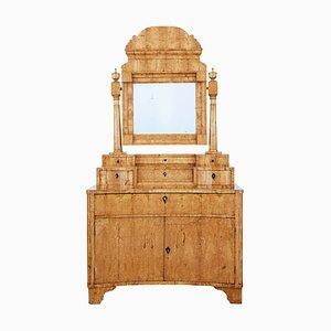 Early 19th Century Biedermeier Birch Vanity Cabinet