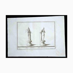 Antike römische Statuen, 18. Jh., Original Radierung