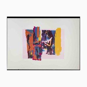 Nicola Simbari, Pink Nude, 1976, Original Siebdruck