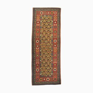 19th Century Yellow and Red Caucasian Talish Rug with Flower Pattern, 1890s