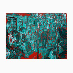 Zhao De-Wei, Public Transport Series, Inside & Out, 2017, óleo sobre lienzo