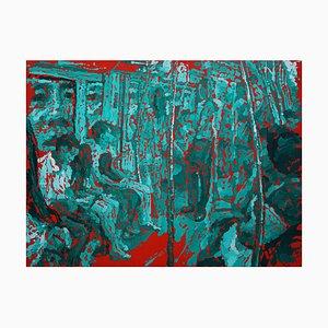 Zhao De-Wei, Public Transport Series, Inside & Out, 2017, Oil on Canvas