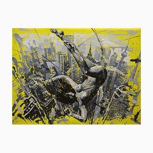 Zhao De-Wei, Urban Landscape Series, Up and Down, 2009, Olio su tela