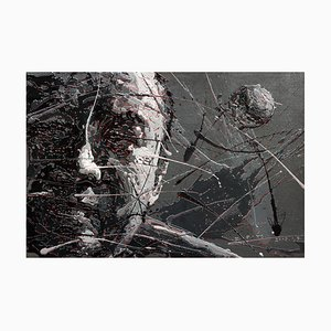 Zhao De-Wei, Character Series, Self Portrait, 2016, Acrilico su tela