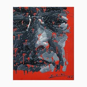 Zhao De-Wei, Self Portrait, 2013, Acryl auf Leinwand