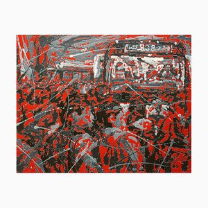 Zhao De-Wei, Urban Landscape Series, Commotion, 2018, Acrilico su tela
