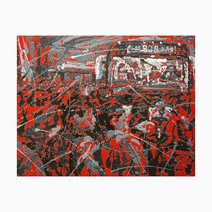 Zhao De-Wei, Urban Landscape Series, Commotion, 2018, Acryl auf Leinwand