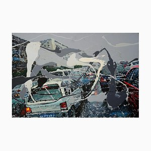 Zhao De-Wei, Urban Landscape Series, On the Road, 2013, Acrylic on Canvas