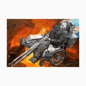 Zhao De-Wei, serie de personajes, un accidente médico, 2014, óleo sobre lienzo